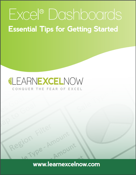 Learn Excel Now - Dashboards