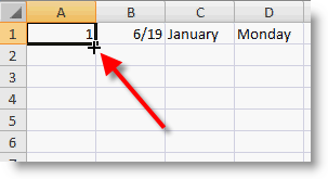 Excel Fill Handle Image 2